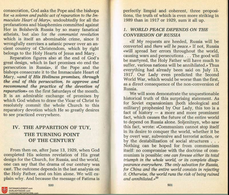 The Whole Truth About Fatima Volume 2 pages 478-479