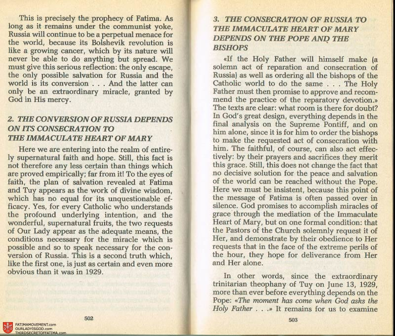 The Whole Truth About Fatima Volume 2 pages 480-481