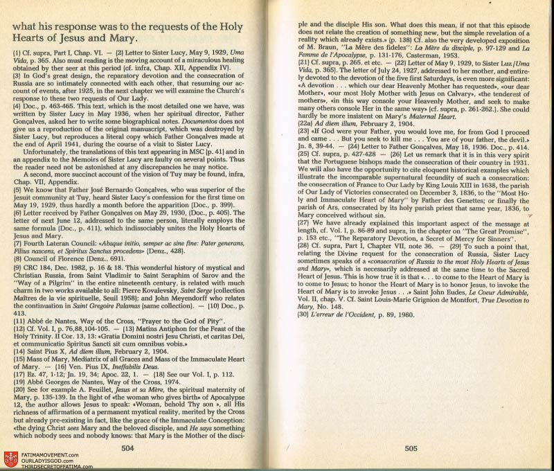 The Whole Truth About Fatima Volume 2 pages 482-483