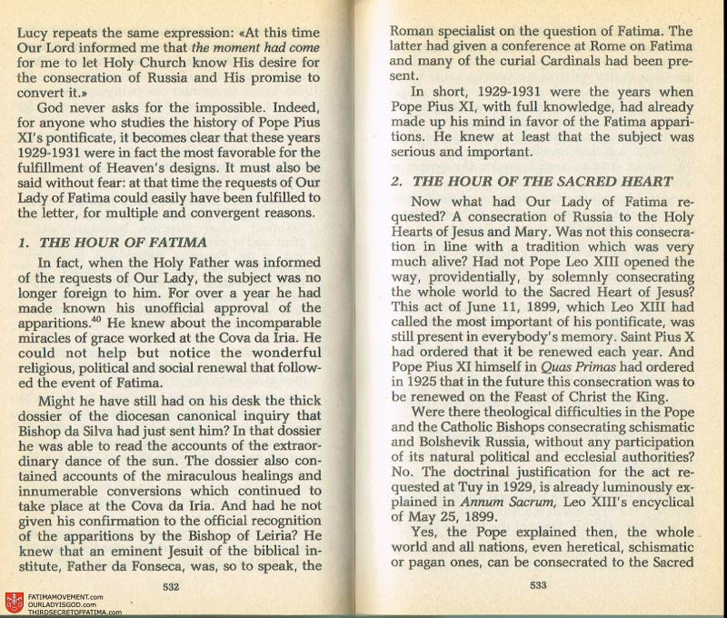 The Whole Truth About Fatima Volume 2 pages 510-511