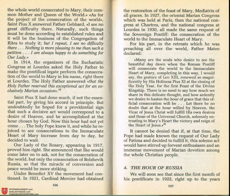 The Whole Truth About Fatima Volume 2 pages 514-515