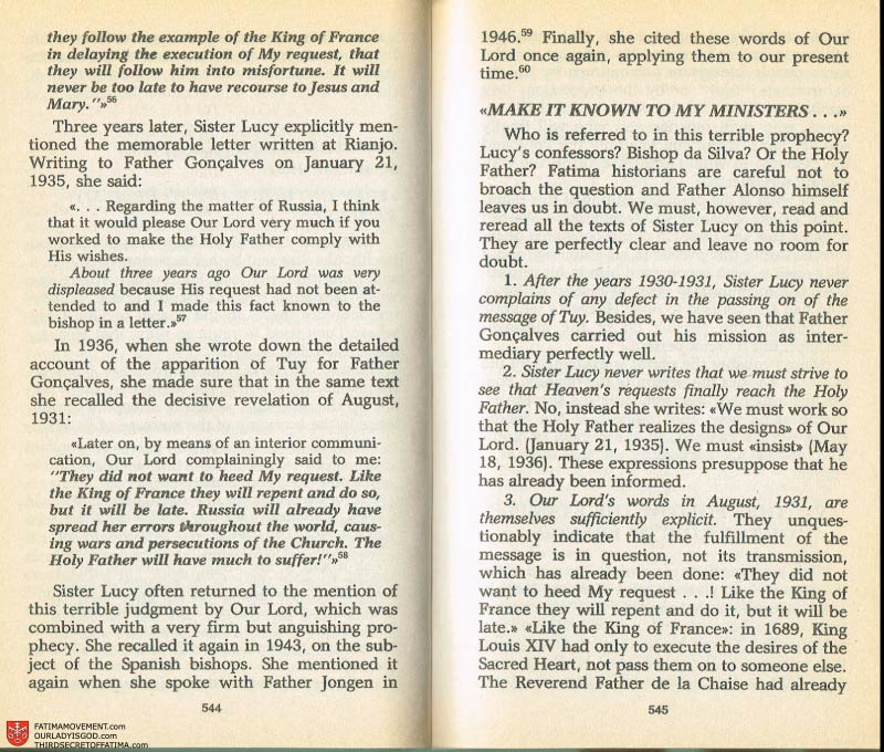 The Whole Truth About Fatima Volume 2 pages 522-523