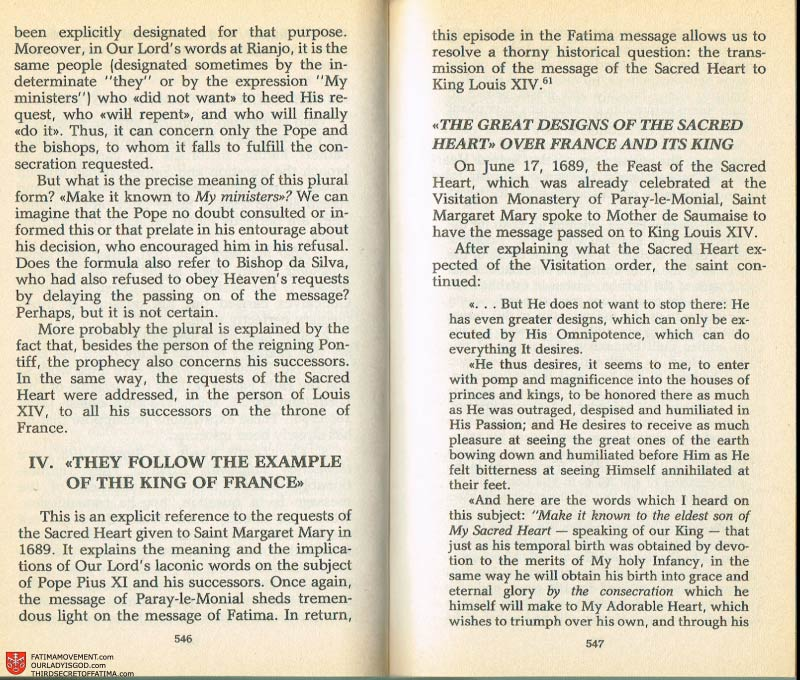 The Whole Truth About Fatima Volume 2 pages 524-525
