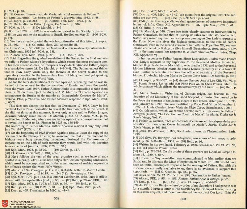 The Whole Truth About Fatima Volume 2 pages 530-531