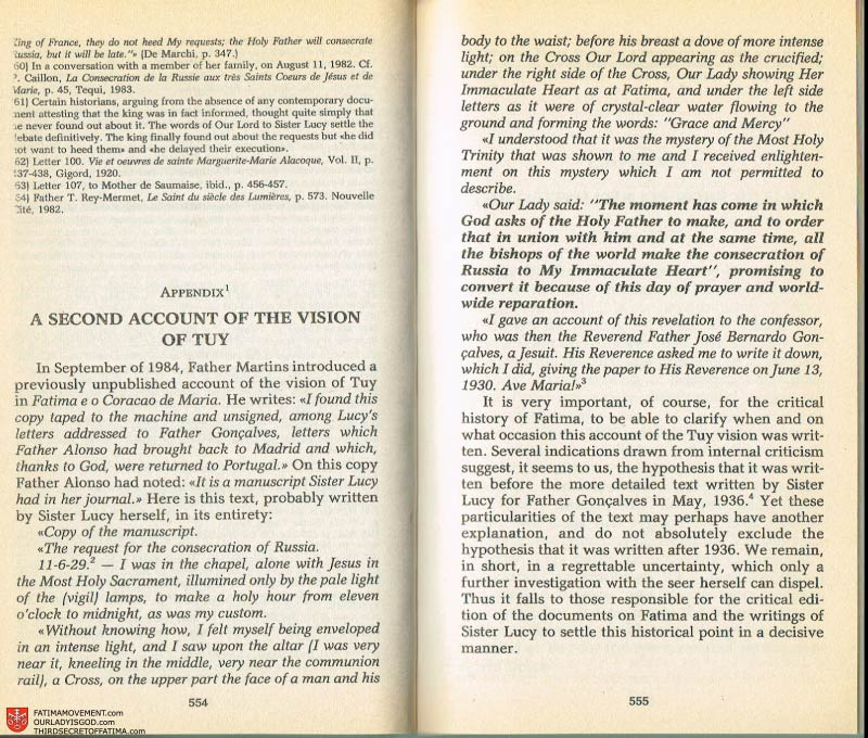 The Whole Truth About Fatima Volume 2 pages 532-533