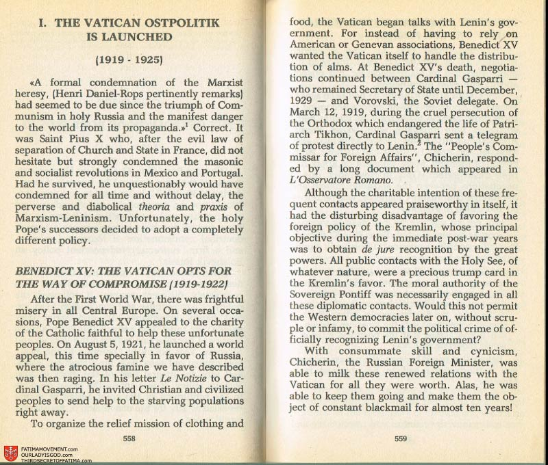 The Whole Truth About Fatima Volume 2 pages 536-537