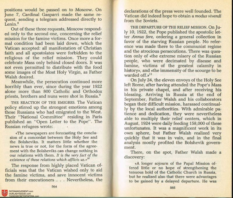 The Whole Truth About Fatima Volume 2 pages 542-543