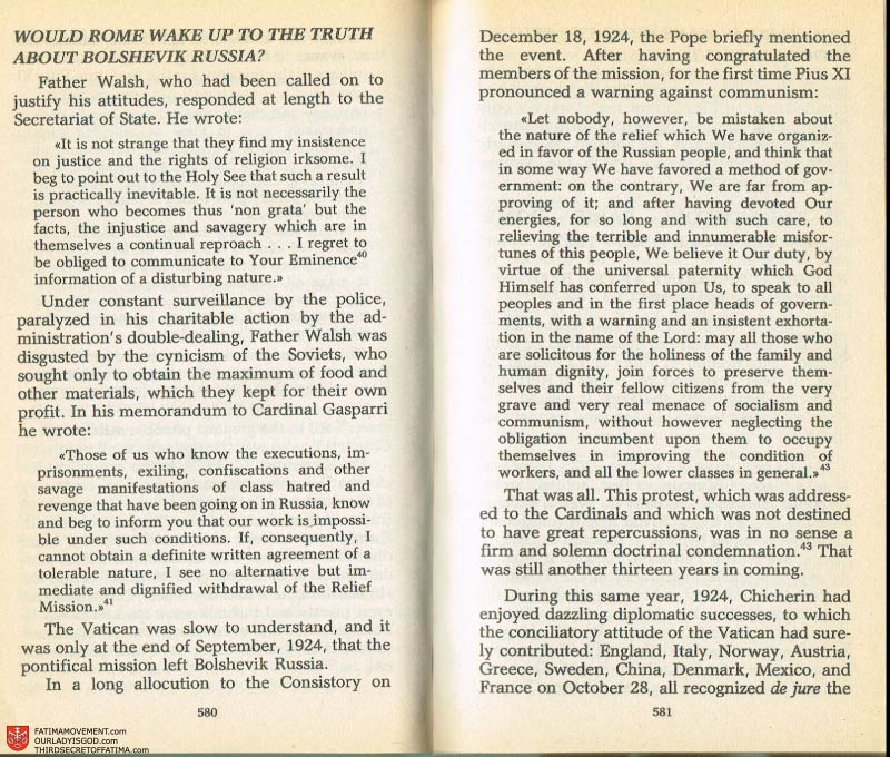 The Whole Truth About Fatima Volume 2 pages 558-559