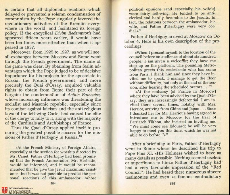 The Whole Truth About Fatima Volume 2 pages 562-563