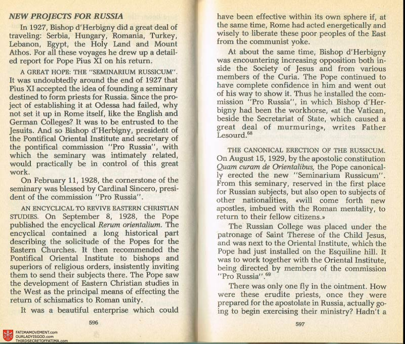 The Whole Truth About Fatima Volume 2 pages 574-575