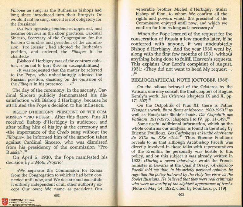 The Whole Truth About Fatima Volume 2 pages 580-581