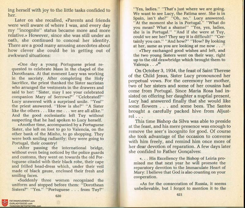 The Whole Truth About Fatima Volume 2 pages 598-599