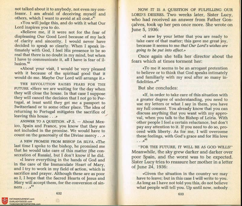 The Whole Truth About Fatima Volume 2 pages 610-611