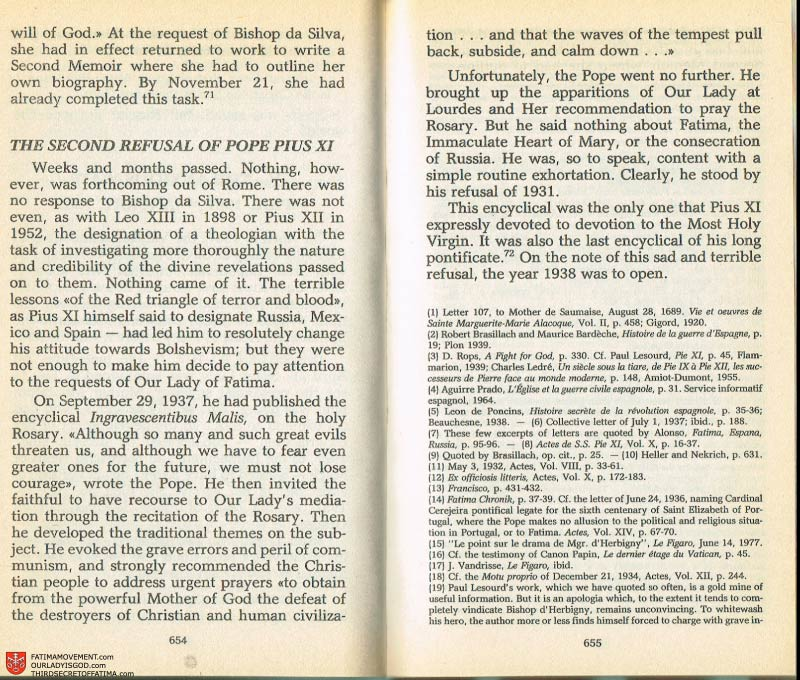 The Whole Truth About Fatima Volume 2 pages 632-633