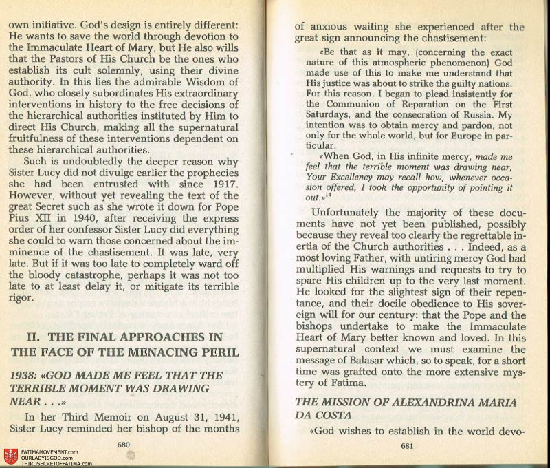 The Whole Truth About Fatima Volume 2 pages 658-659