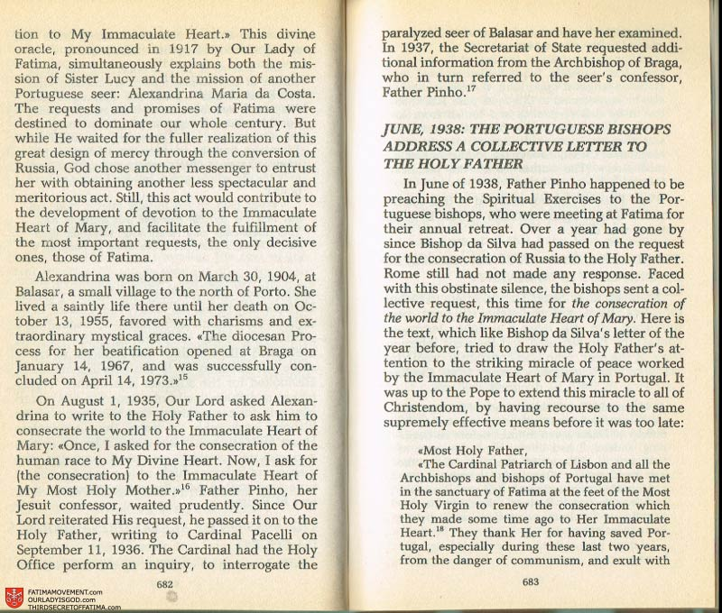 The Whole Truth About Fatima Volume 2 pages 660-661