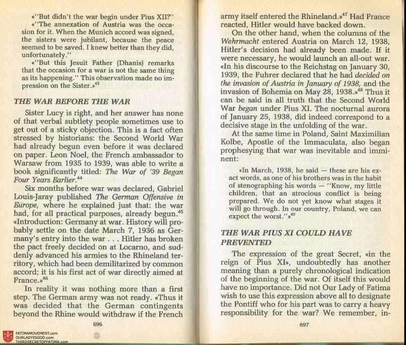 The Whole Truth About Fatima Volume 2 pages 674-675