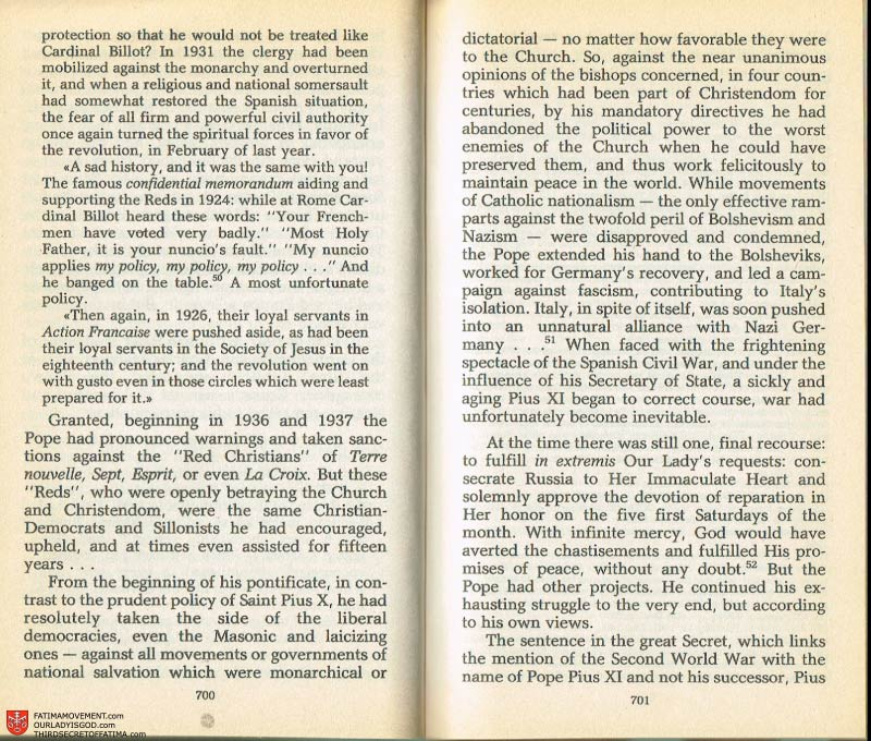 The Whole Truth About Fatima Volume 2 pages 678-679