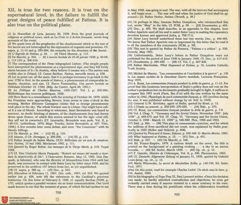 The Whole Truth About Fatima Volume 2 pages 680-681
