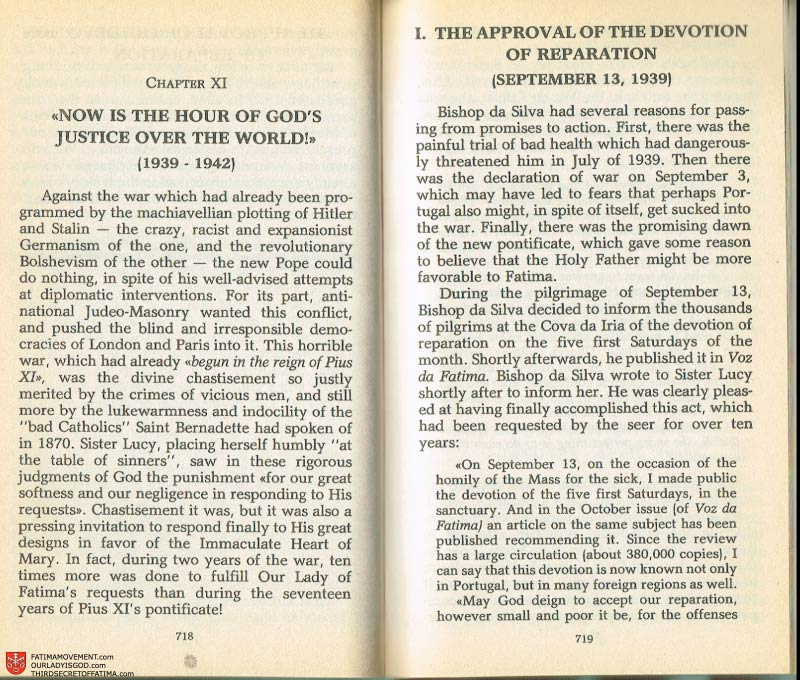 The Whole Truth About Fatima Volume 2 pages 696-697