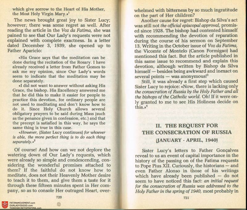 The Whole Truth About Fatima Volume 2 pages 698-699
