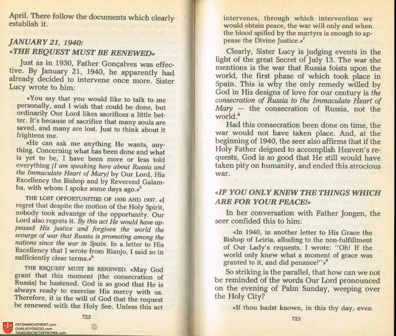 The Whole Truth About Fatima Volume 2 pages 700-701