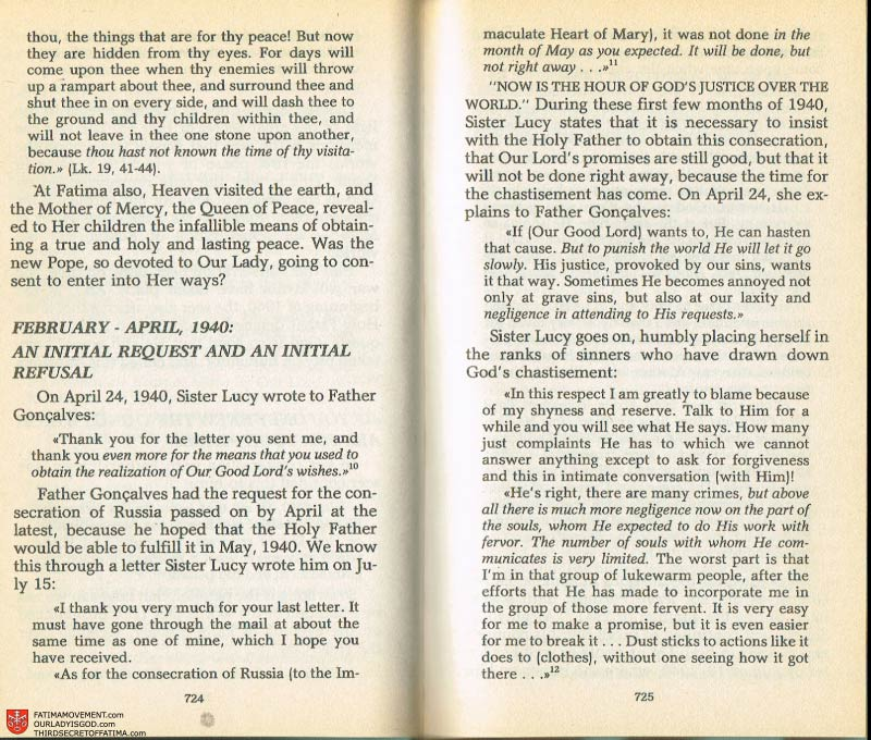 The Whole Truth About Fatima Volume 2 pages 702-703