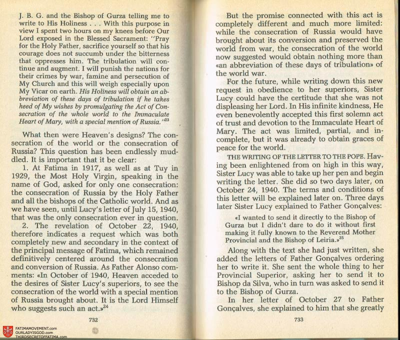 The Whole Truth About Fatima Volume 2 pages 710-711
