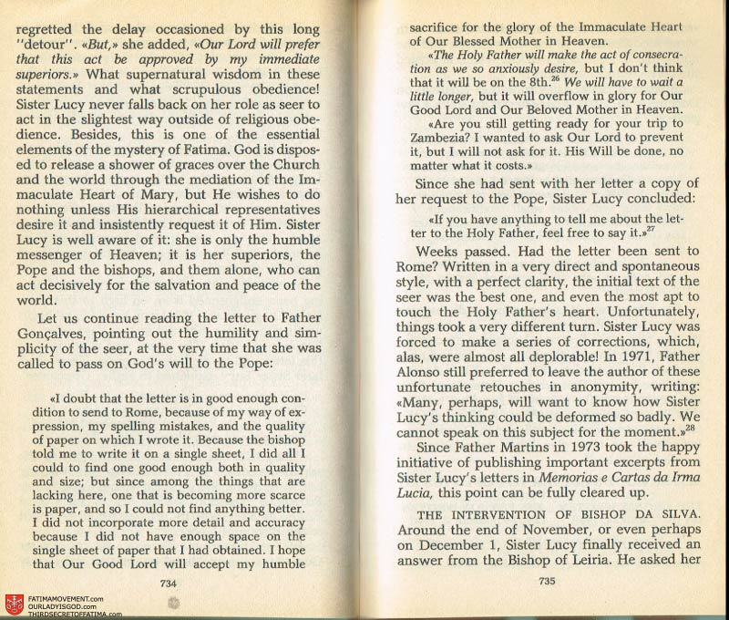 The Whole Truth About Fatima Volume 2 pages 712-713