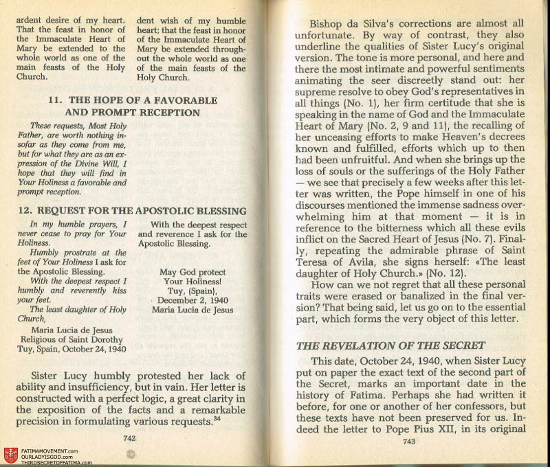 The Whole Truth About Fatima Volume 2 pages 720-721