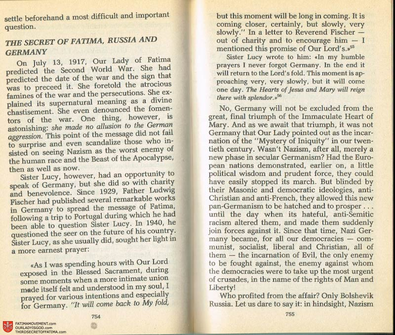 The Whole Truth About Fatima Volume 2 pages 732-733