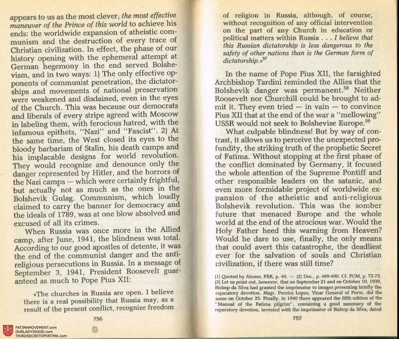 The Whole Truth About Fatima Volume 2 pages 734-735