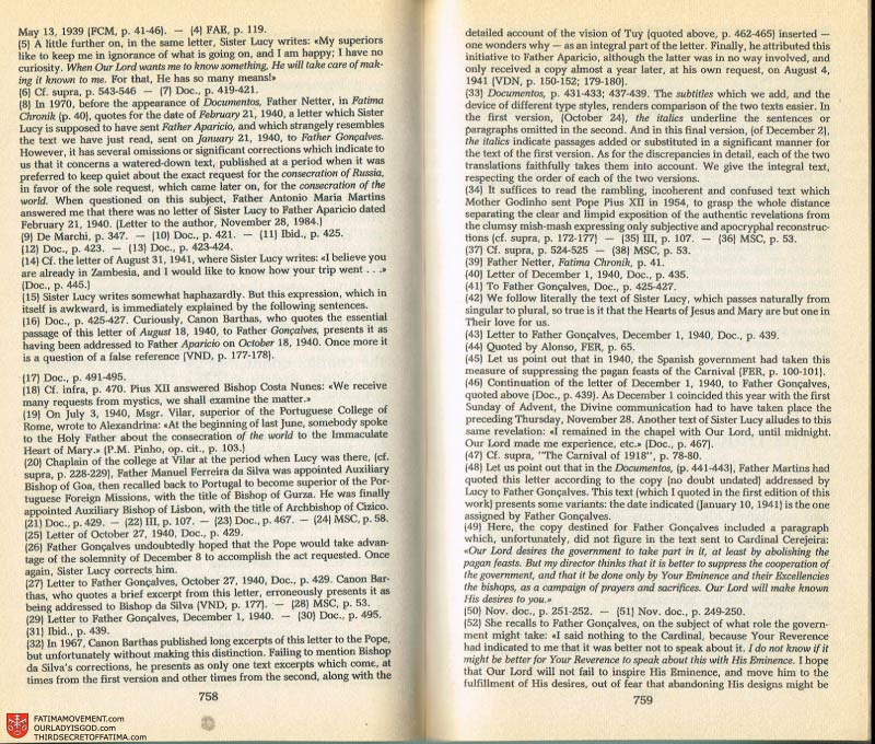 The Whole Truth About Fatima Volume 2 pages 736-737