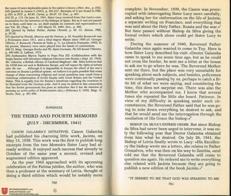 The Whole Truth About Fatima Volume 2 pages 738-739