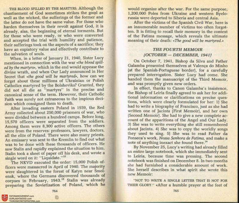 The Whole Truth About Fatima Volume 2 pages 744-743