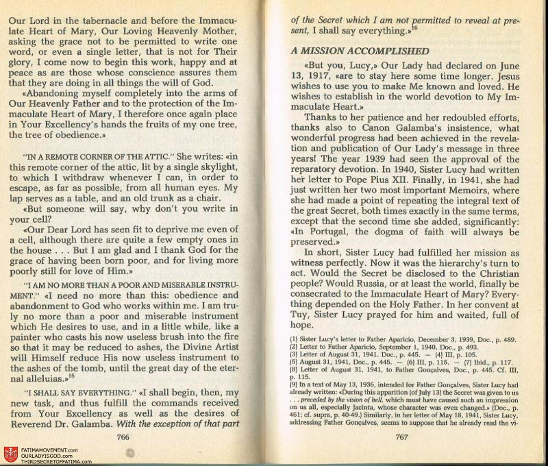 The Whole Truth About Fatima Volume 2 pages 744-745
