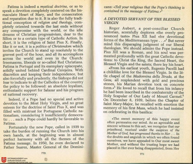 The Whole Truth About Fatima Volume 2 pages 748-749