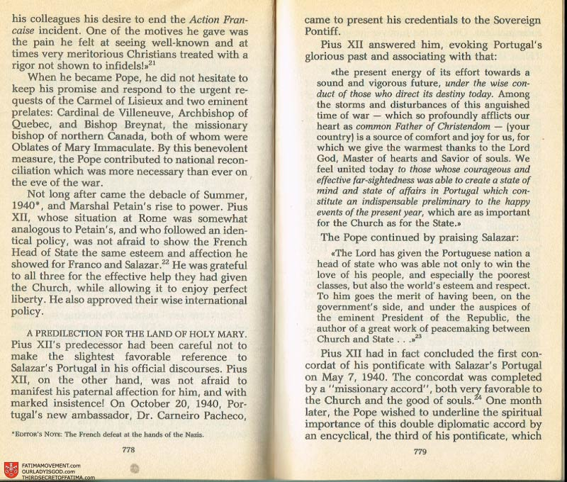 The Whole Truth About Fatima Volume 2 pages 756-757