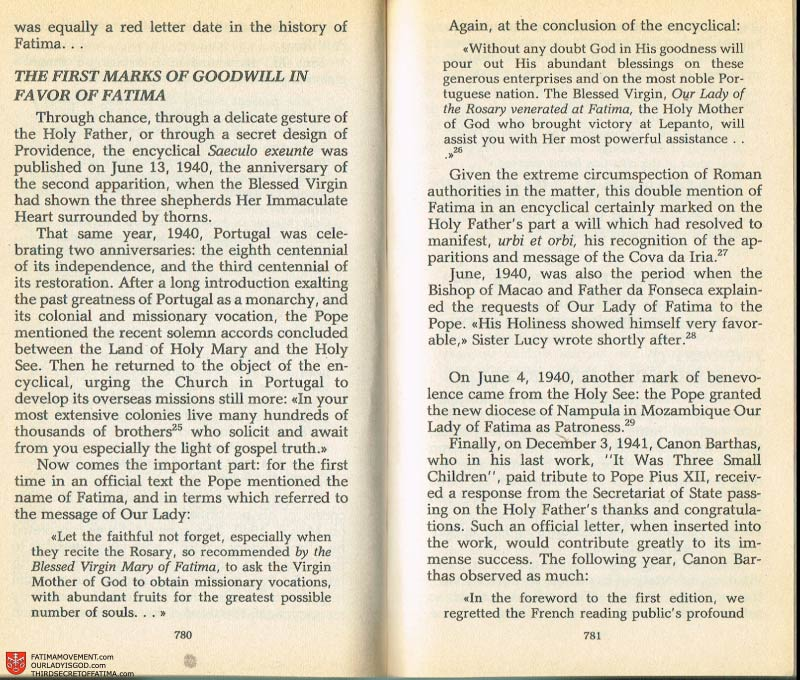 The Whole Truth About Fatima Volume 2 pages 758-759