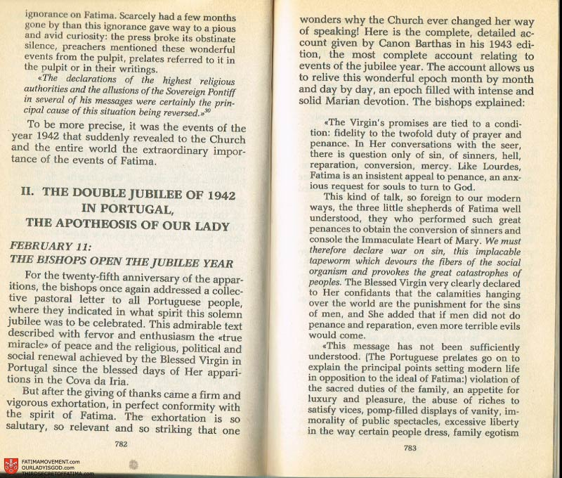 The Whole Truth About Fatima Volume II The Secret and The Church