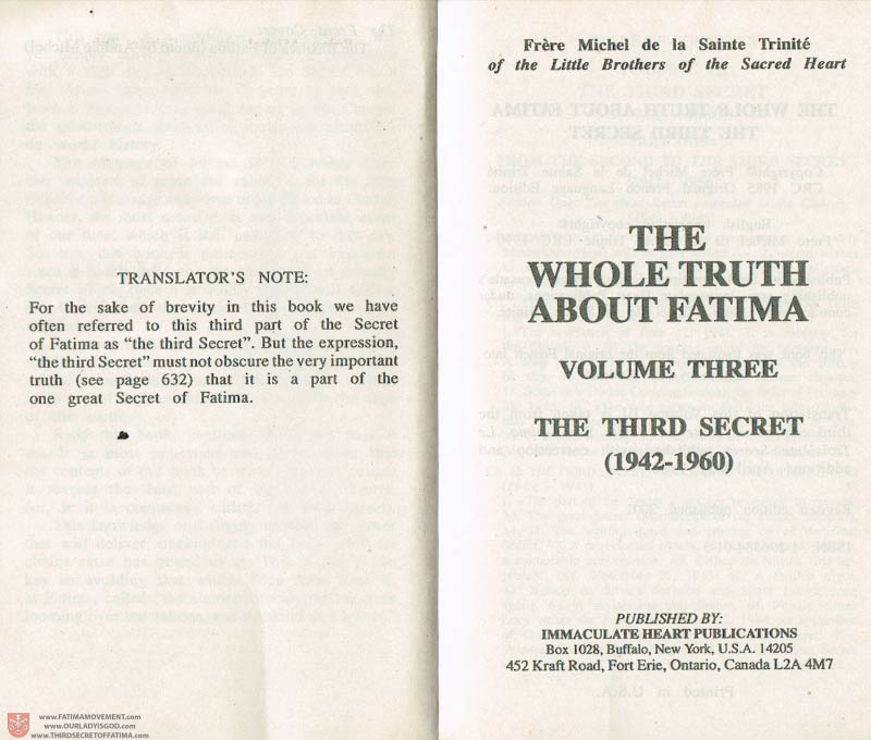 The Whole Truth About Fatima Volume 3 pages e-f