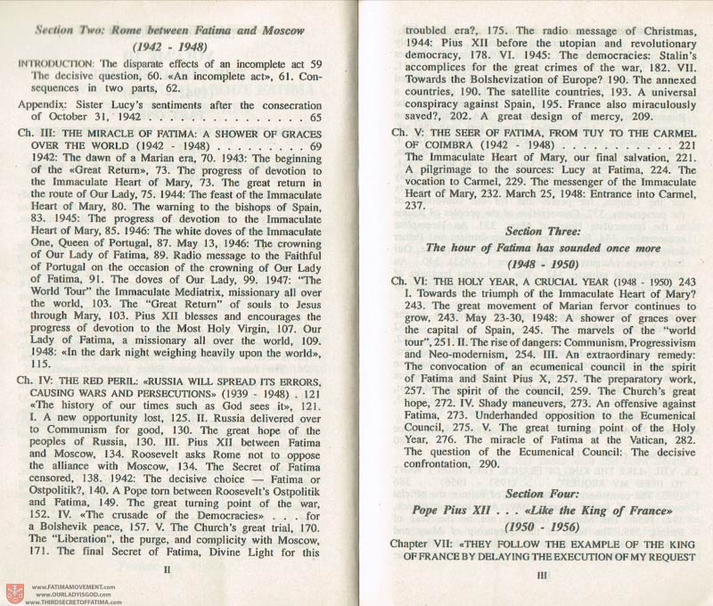 The Whole Truth About Fatima Volume 3 pages ii-iii
