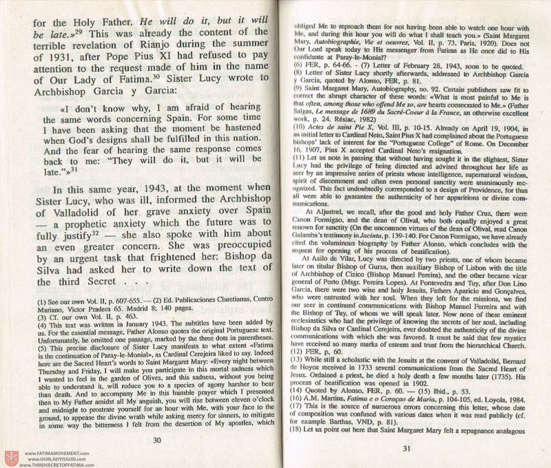 The Whole Truth About Fatima Volume 3 pages 30-31