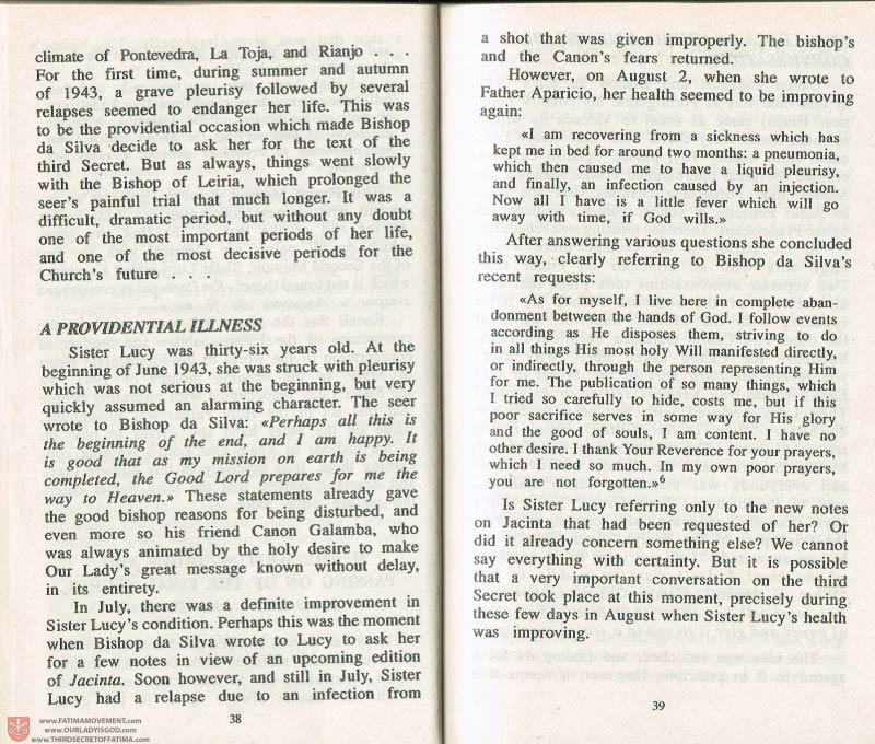The Whole Truth About Fatima Volume 3 pages 38-39