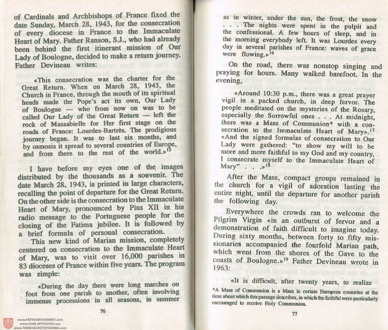 The Whole Truth About Fatima Volume 3 pages 76-77