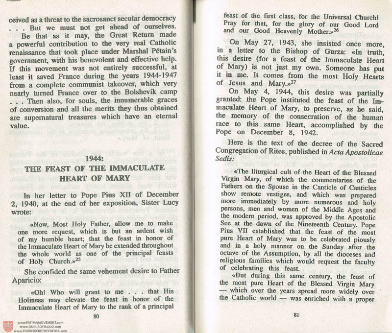 The Whole Truth About Fatima Volume 3 pages 80-81