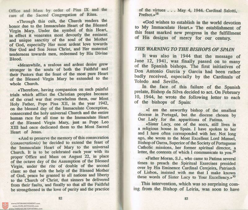 The Whole Truth About Fatima Volume 3 pages 82-83