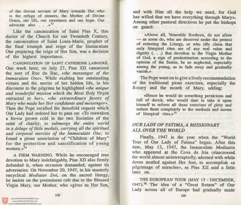 The Whole Truth About Fatima Volume 3 pages 108-109