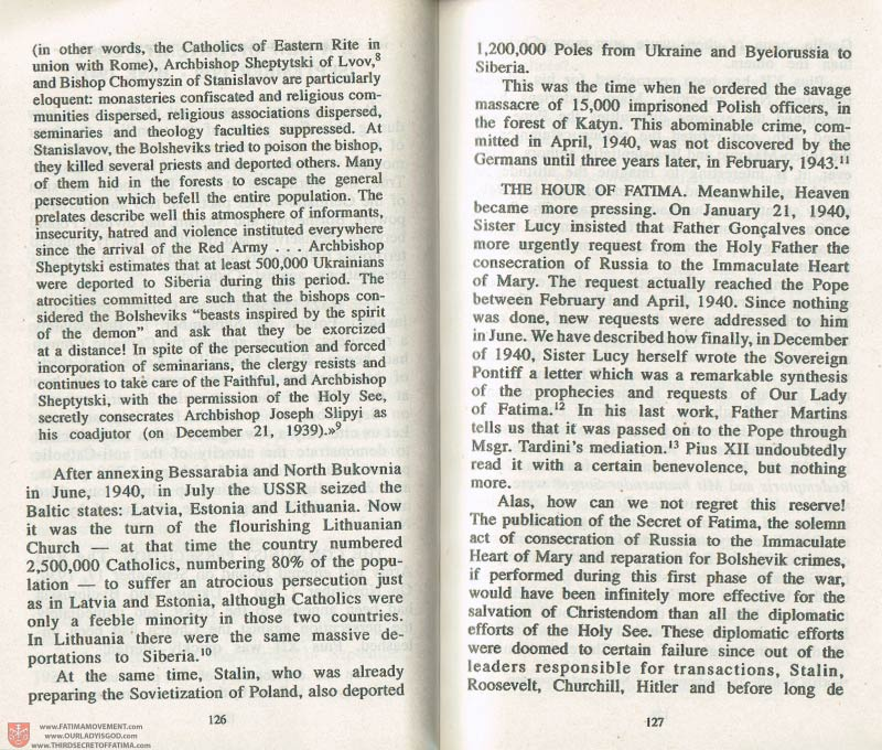 The Whole Truth About Fatima Volume 3 pages 126-127