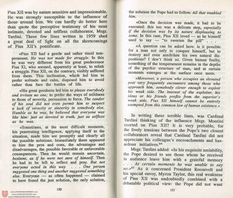 The Whole Truth About Fatima Volume 3 pages 150-151